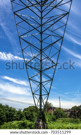 High voltage cable tower
