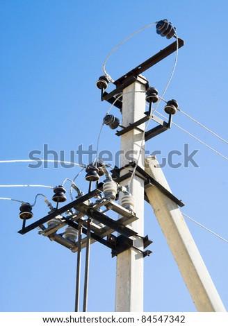 High-voltage column - stock photo