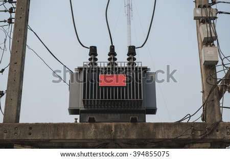 High voltage electric power. - stock photo
