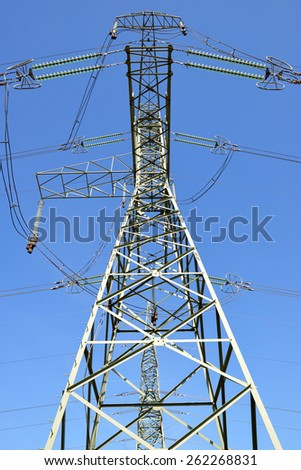 High Voltage Electric Tower - stock photo