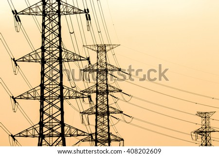 high voltage electrical pole structure