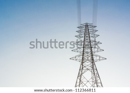 High Voltage Electrical Post Wire Stand Stock Photo (Royalty Free ...