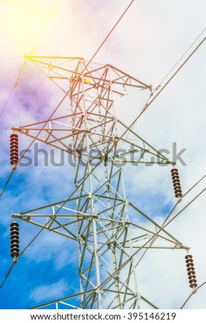 high voltage electrical post. Vintage filter