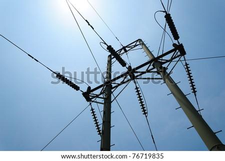 High Voltage Electricity Mast /  Pylon - stock photo