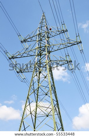 High voltage electricity network pylon.