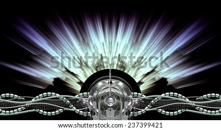 High voltage generator at work - stock photo