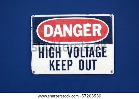 high voltage keep out - stock photo