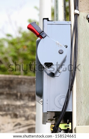 High voltage Knife switch box - stock photo