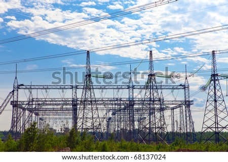 High-voltage line of electricity transmissions