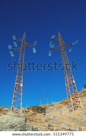high voltage pole - electrical pylons High voltage towers