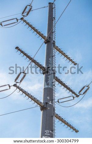 High voltage post detail