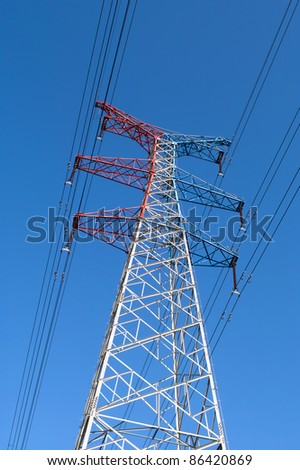 High voltage power pylons