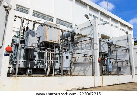 High-voltage power transformer