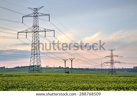 High voltage pylons, Power lines