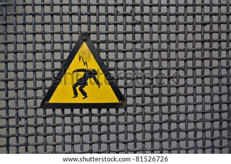High Voltage Sign - stock photo