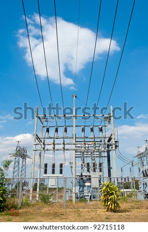 High Voltage Substation - stock photo