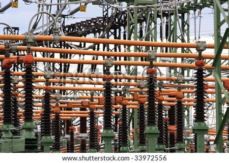 High voltage switch, Czech Republic - stock photo