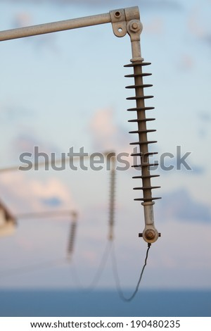 High voltage system for offshore plant, the system should be install earth ground for support the high voltage system and the ground system is the safety of the process and worker. - stock photo