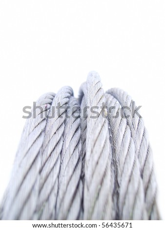 High voltage wire - stock photo