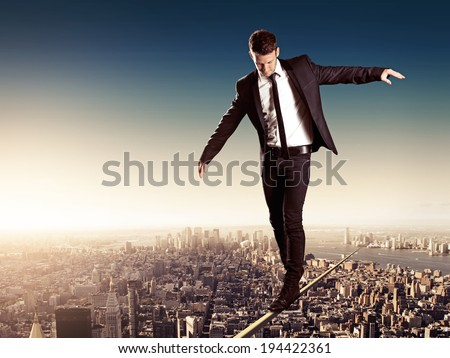 High Wire - stock photo