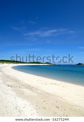Higher Town bay beach in St. Martins Isles of Scilly.