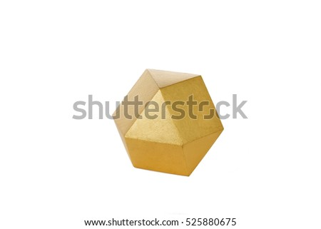Highest order crystal. Isolated on the white background.