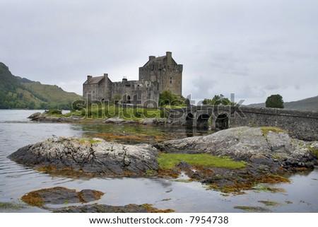 Highland castle - stock photo