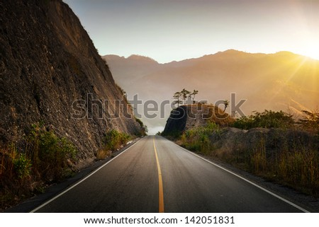 Highland Highway in Central America - stock photo