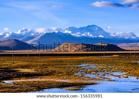Highland Tibet - stock photo