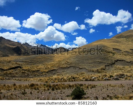 Highlands in Andes Mountains, Peru