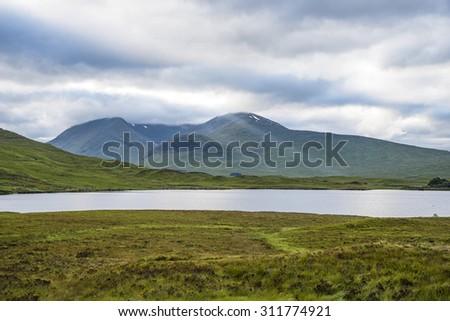 Highlands panorama - stock photo