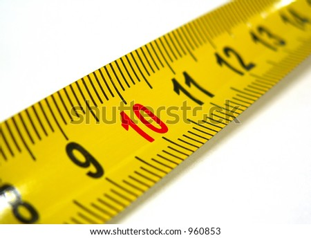 highlighted ten mark on measuring tape