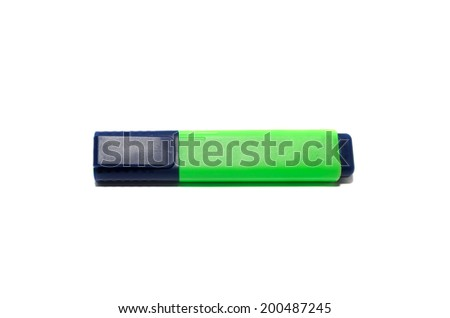Highlighter isolated on a white background. - stock photo
