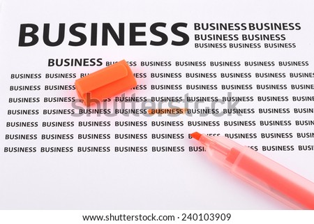 Highlighter on documents business - stock photo