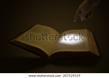 Highlighting Scripture - stock photo