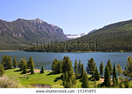 Highlite Lake at Gallatin National Forest, Bozeman, Montana, USA - stock photo