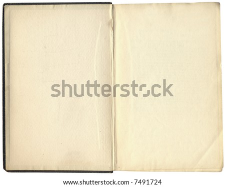 Highly detailed Antique book isolated on white ,great design element or grunge textured layer for your projects. - stock photo