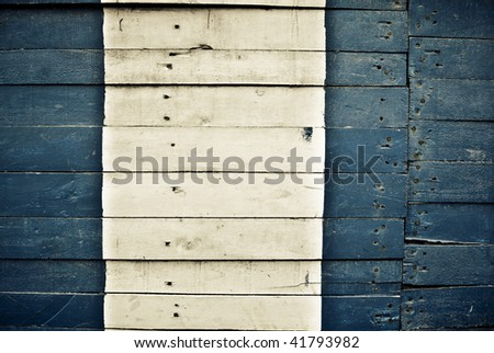 Highly detailed blue and white wooden background - stock photo