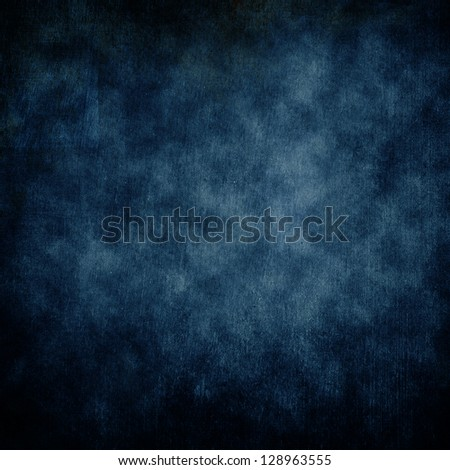 Highly detailed blue grunge background or paper with vintage texture and space for your text, image or border frame - stock photo