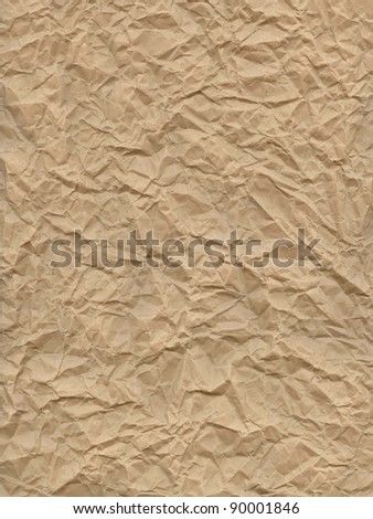 highly detailed crumpled paper - stock photo