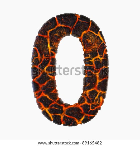 Highly detailed 3d digit on white background - stock photo