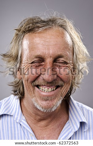 Highly detailed fine art portrait. smiling happy real person - stock photo