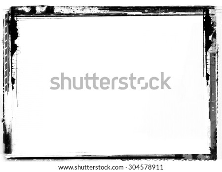 Highly detailed grunge frame  with space for your text or image. Great grunge layer,overlay,background or texture for your projects. - stock photo