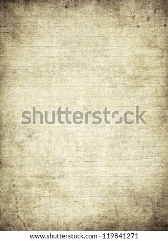 Highly detailed image of a page from old grunge notebook - stock photo