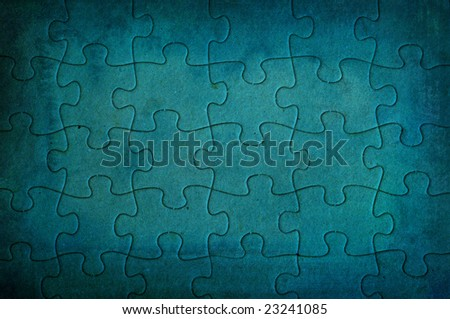 highly detailed puzzle background frame - perfect background with space for text or image - stock photo
