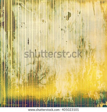 Highly detailed scratched texture, aged grungy background. Vintage style composition with different color patterns: yellow (beige); brown; green; purple (violet); white - stock photo