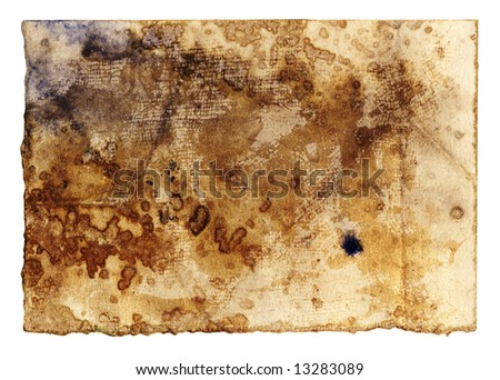 Highly detailed textured antique  paper , great grunge background for your projects  with space for your text or image - stock photo