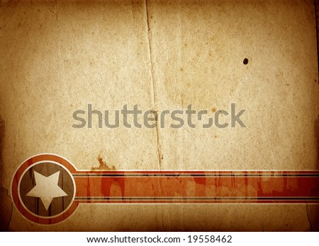 Highly detailed textured retro paper , great grunge background for your projects  with space for your text or image. - stock photo