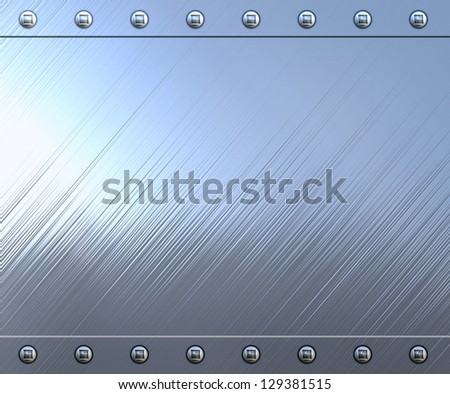 highly polished and reflective stainless steel background - stock photo