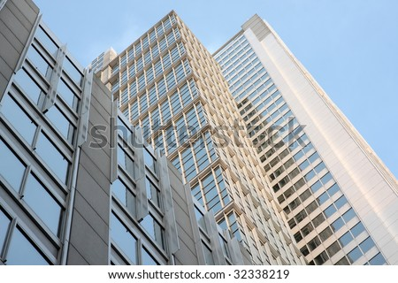 Highrise apartment buildings in Chicago - stock photo